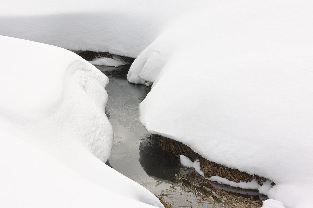 Schnee und Wasser, Spitzingsee I